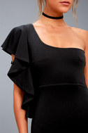 Live my Life Black One-Shoulder Bodycon Dress 8