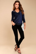 Tori Royal Blue Sweater Top 3