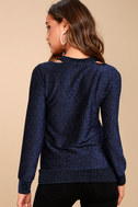 Tori Royal Blue Sweater Top 4
