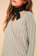 Lacey Taupe Long Sleeve Wrap Top 4