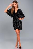 Mesmerize on the Prize Black Velvet Wrap Dress 5