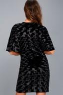 Mesmerize on the Prize Black Velvet Wrap Dress 7