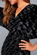 Mesmerize on the Prize Black Velvet Wrap Dress 8