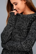 Pepper Black and White Knit Sweater 2
