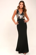 Gilded Glory Gold and Black Sequin Maxi Dress 2