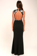 Gilded Glory Gold and Black Sequin Maxi Dress 4