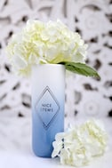 Nice Stems White and Blue Ombre Vase 1