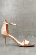Published Author Rose Gold Ankle Strap Heels 3