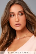 Elemental Style Rose Gold Rhinestone Choker Necklace 1