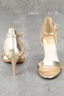 Published Author Gold Ankle Strap Heels 3