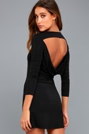 Kiss and Tell Black Long Sleeve Backless Dress 7