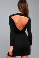 Kiss and Tell Black Long Sleeve Backless Dress 8
