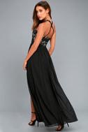 Unforgettable Evening Black Lace Maxi Dress 2