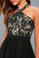 Unforgettable Evening Black Lace Maxi Dress 4