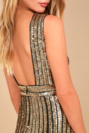 Marquee Lights Gold Sequin Backless Bodycon Dress 4