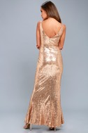 Here to Wow Gold Sequin Maxi Dress 7