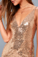 Here to Wow Gold Sequin Maxi Dress 8