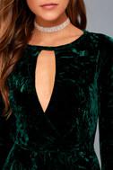 Keep Love Alive Forest Green Velvet Maxi Dress 4