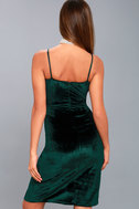 Honey Love Dark Green Velvet Bodycon Dress 3