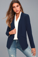 Miss Punctuality Navy Blue Blazer 5