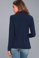 Miss Punctuality Navy Blue Blazer 6