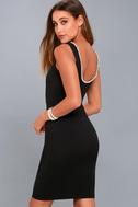 Classy Lady Black Pearl Bodycon Midi Dress 6