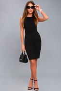 Classy Lady Black Pearl Bodycon Midi Dress 5