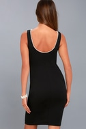 Classy Lady Black Pearl Bodycon Midi Dress 7
