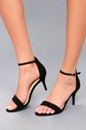 Published Author Black Suede Ankle Strap Heels 2