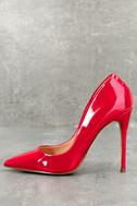 Daisie Red Patent Pumps 1