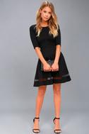 Sheer Factor Black Mesh Skater Dress 2