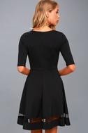 Sheer Factor Black Mesh Skater Dress 4