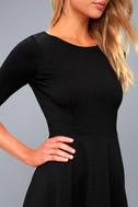 Sheer Factor Black Mesh Skater Dress 5