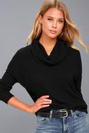Friend of a Friend Black Cowl Neck Sweater Top 3