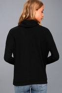 Friend of a Friend Black Cowl Neck Sweater Top 4