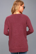 Emerson Washed Burgundy Long Sleeve Thermal Top 3