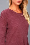 Emerson Washed Burgundy Long Sleeve Thermal Top 4