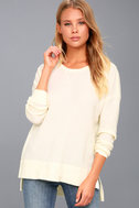Emerson Cream Long Sleeve Thermal Top 1