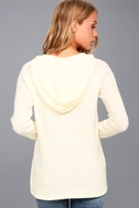 Harvest Cream Hooded Lace-Up Thermal Top 4