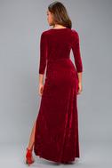 Keep Love Alive Wine Red Velvet Maxi Dress 7