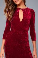 Keep Love Alive Wine Red Velvet Maxi Dress 8