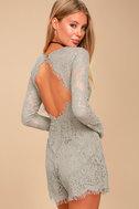 Ellery Grey Lace Long Sleeve Romper 5
