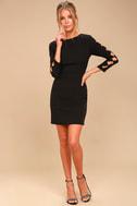 Lights Down Low Black Long Sleeve Cutout Bodycon Dress 2