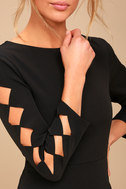 Lights Down Low Black Long Sleeve Cutout Bodycon Dress 4
