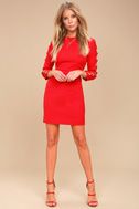 Lights Down Low Red Long Sleeve Cutout Bodycon Dress 2