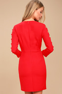 Lights Down Low Red Long Sleeve Cutout Bodycon Dress 3