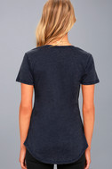 Z Supply Pleasant Surprise Washed Navy Blue Tee 3