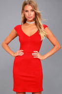 Shape of My Heart Red Bodycon Dress 3