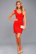 Shape of My Heart Red Bodycon Dress 2