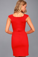 Shape of My Heart Red Bodycon Dress 4